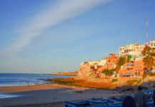 Morocco pink skies